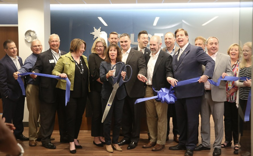 Pilot Chemical ribbon cutting