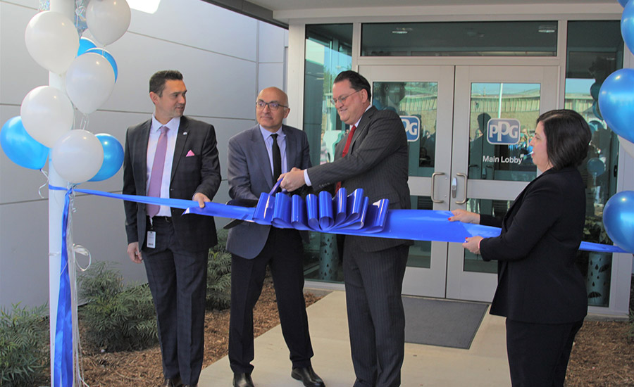 PPG ribbon cutting