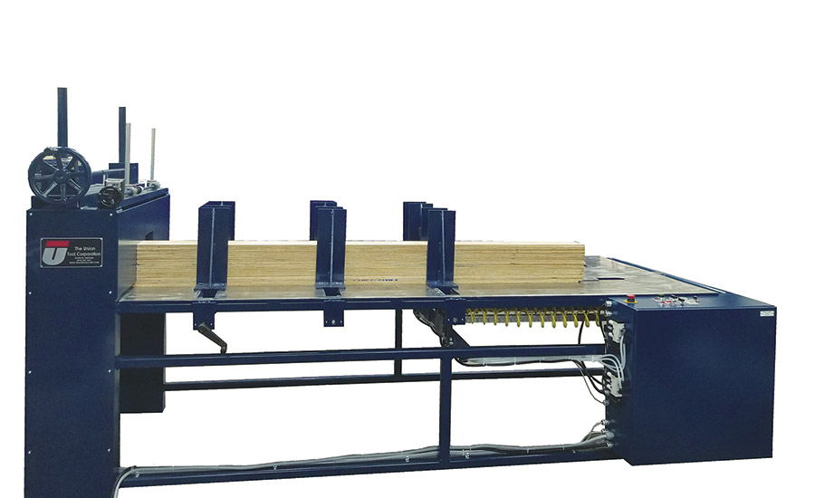 Union Tool plywood core feeder