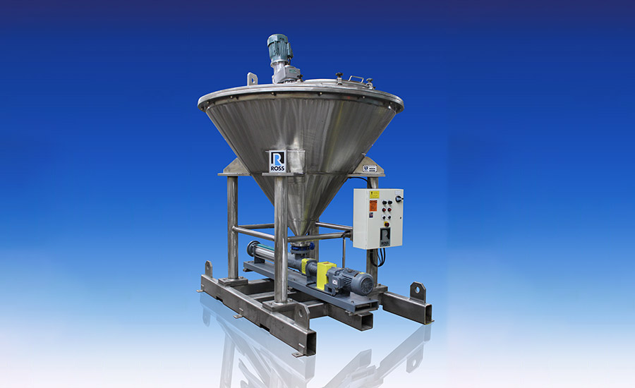 Ross mixing and pumping skid system