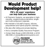 Polymeric Systems, Inc. - Product Development