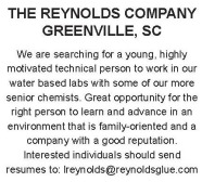 Reynolds Company is Searching For Lab Personnel