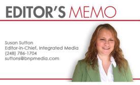 Susan Sutton updated Editor's Memo