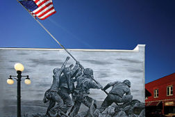 world war two mural outside coating