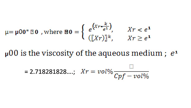 formula adhesive system viscosity of the aqueous