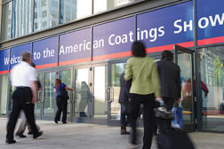 walking into building american coatings show