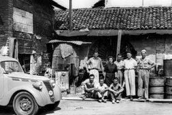 black and white photo mapei italy