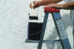 white paint ladder